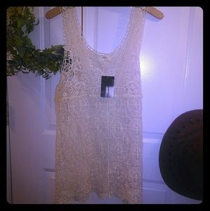 Nwt Crochet Lace Tank Top Urban Anthro Large